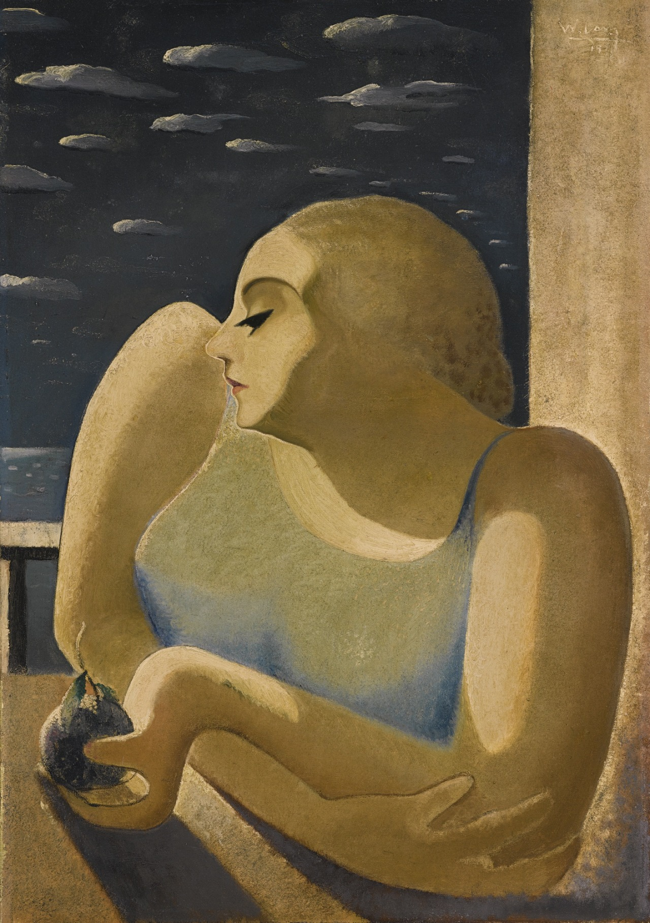 lawrenceleemagnuson:  Wifredo Lam (Cuba 1902-1982) Untitled (Eva) 1931 oil on canvas 80.6 x 56 cm