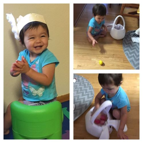 Easter withdrawals one week later means a second Easter egg hunt #WasntHappyWhenSheFoundOutThatTheEggsWereEmpty
