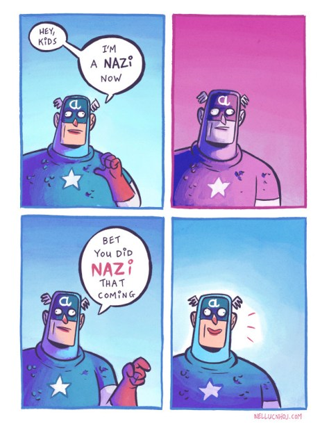 Cap, I did Nazi your alliance to hydra coming.