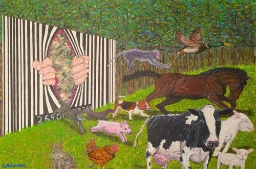 "veganzeus: "" Freedom. Robbie Nuwanda Fine Art http://www.robbienuwanda.com/#!product-page/fy9ik/a729b3b9-46f6-593e-cfce-594a8a35d69c """