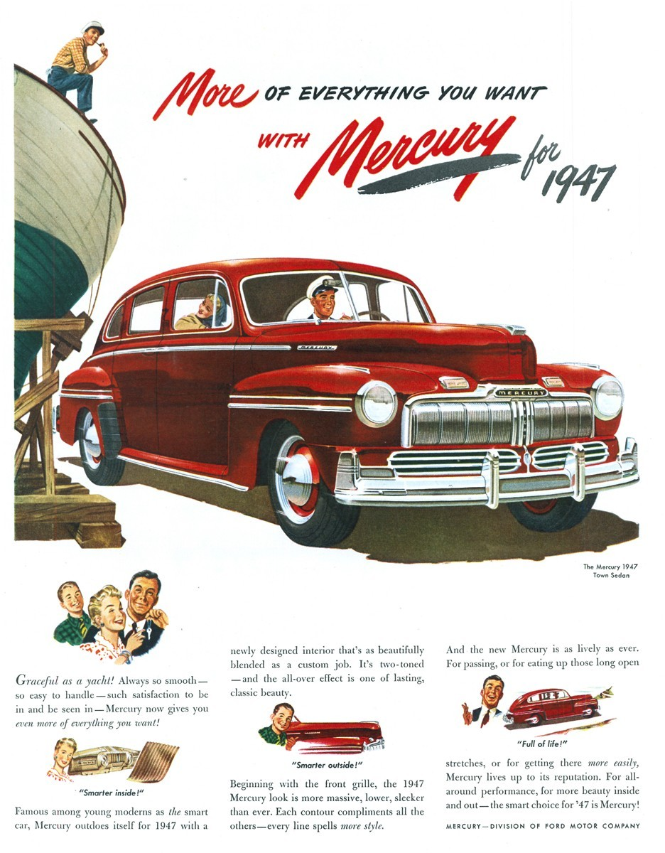 1947 Mercury Town Sedan - published in Life - April 21, 1947