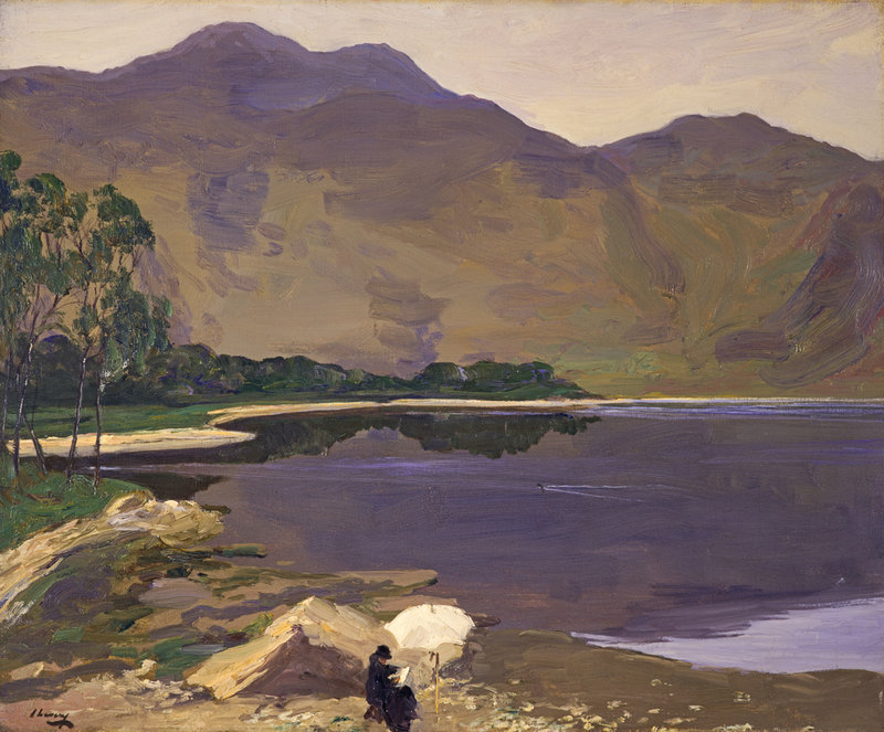 "huariqueje: "" Loch Katrine - Sir John Lavery., 1913 Irish, 1856–1941 Oil on canvas, 63.20 x 76.20 cm """