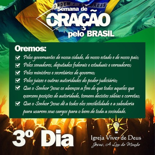 Resultado de imagem para semana de oração pelo brasil