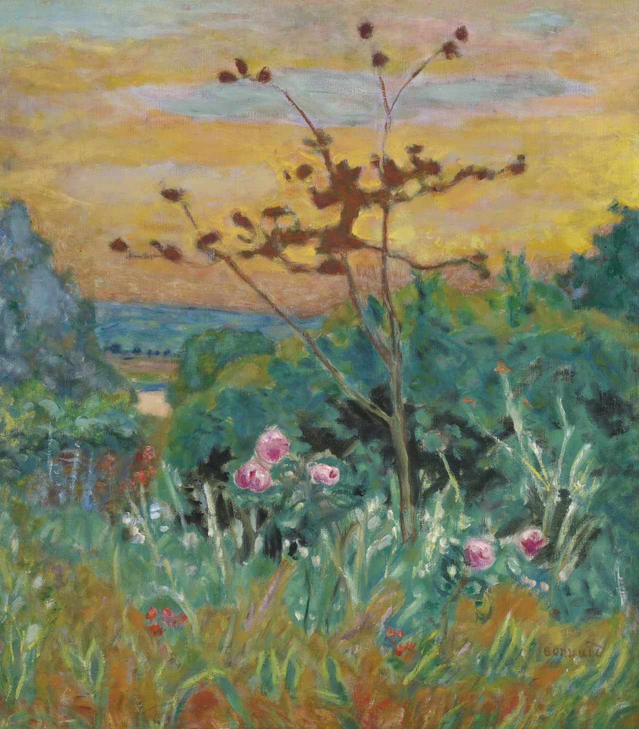 "huariqueje: "" Jardin a Vernonnet. - Pierre Bonnard, 1915 French, 1867 - 1947 Oil on canvas, 24 by 21 1/8 in., """
