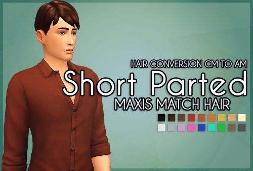 Meyokisims Short Parted Hair The Sims 4 Maxis Match Hair Hey Sims Update Find Or Downloads Custom Contents For The Sims 2 3 4