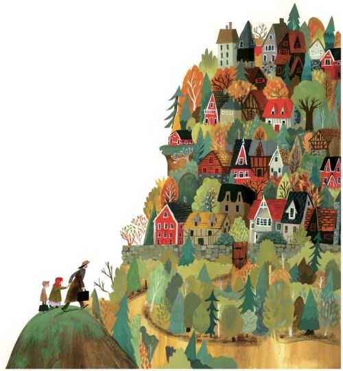 "bellasecretgarden: "" 'The Village' by Jen Hill """
