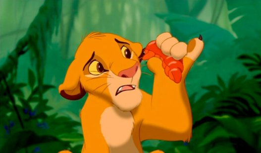 Screen shot from Lion King for