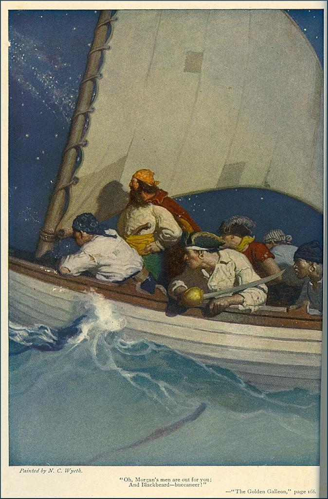 pirates on a small ship