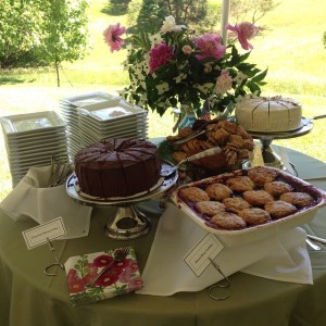 A display of some of our sweet treats at a wedding reception