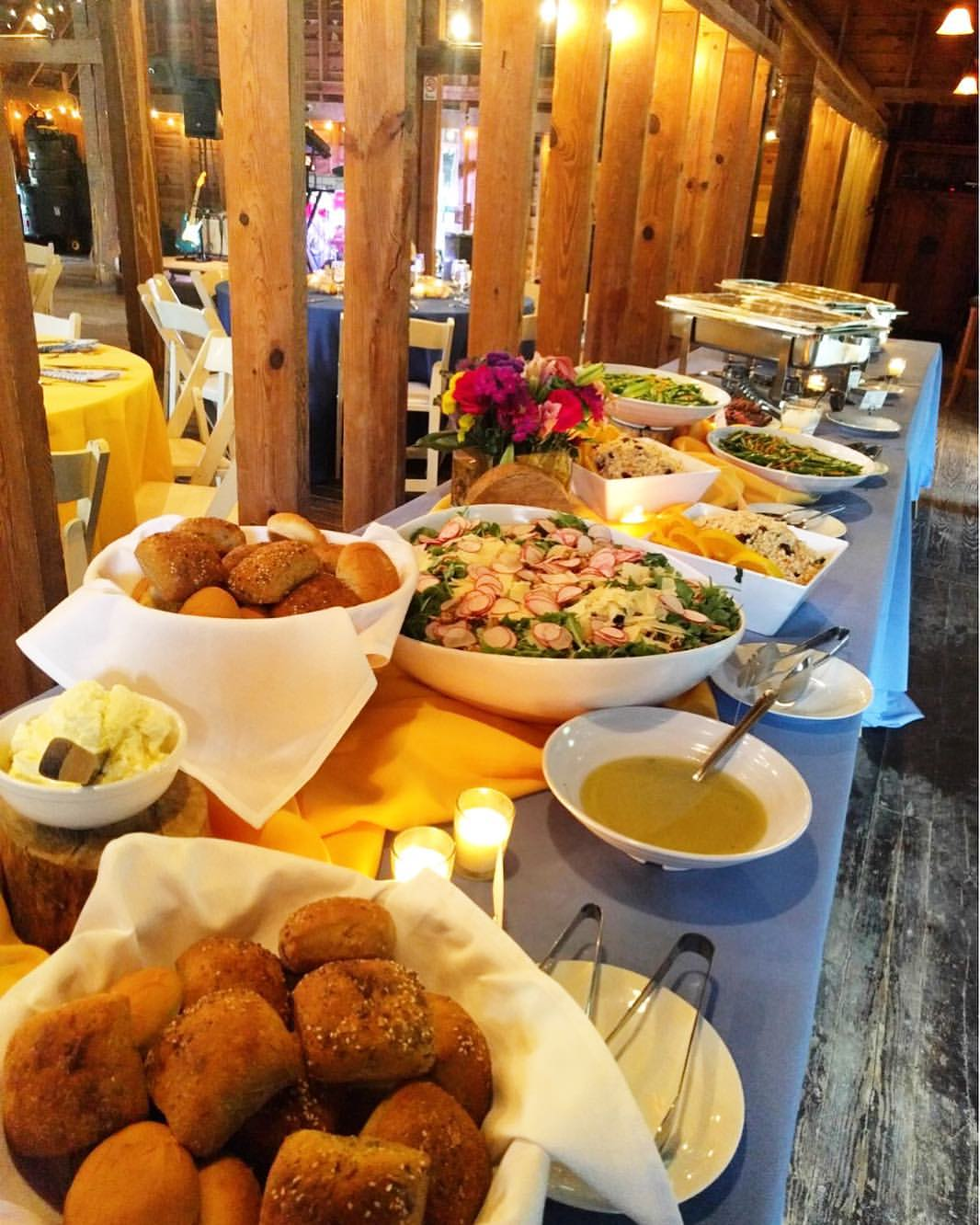 Picture of Wedding Buffet with Salad, Rolls and Veggies by 67 Biltmore Downtown Eatery and Catering