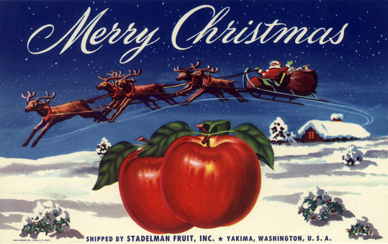 Merry Christmas Apples - Stadelman Fruit, Inc. - Yakima, Washington U.S.A. - date unknown