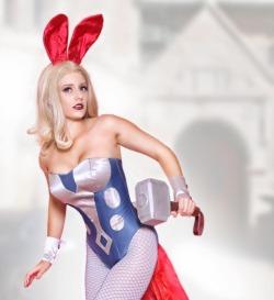abbydarkstar:Sneaking away from the Mansion for some #Avenger fun! 📸 @sghphotoart #bunniesofinstagram #bunnysuit #playboybunny #thorBunny #avengerbunnies #cosplay #abbydarkstarBunny Thor by @abbydarkstar