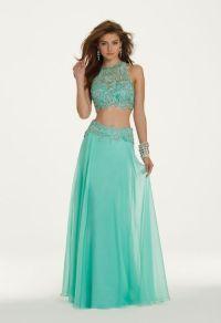 blue two piece prom dress   Tumblr