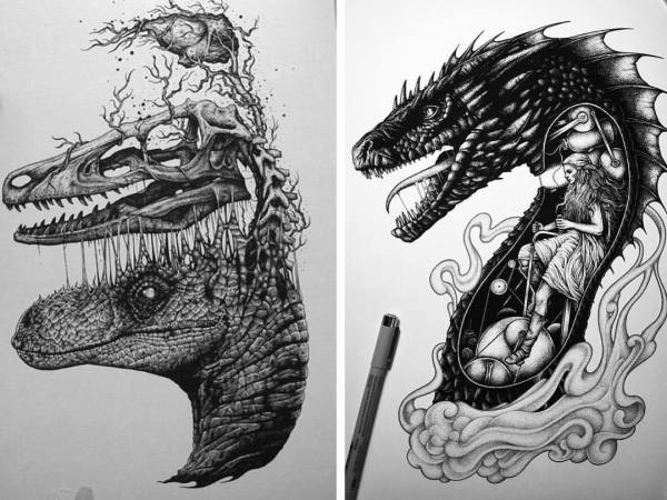 Game of Thrones Dragon Drawing Pencil