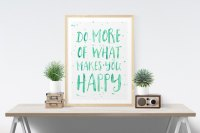 Printable Wall Art, Art Prints & Posters  Do More Of What ...