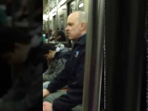 Real reptilian person on Brooklyn train !!! source