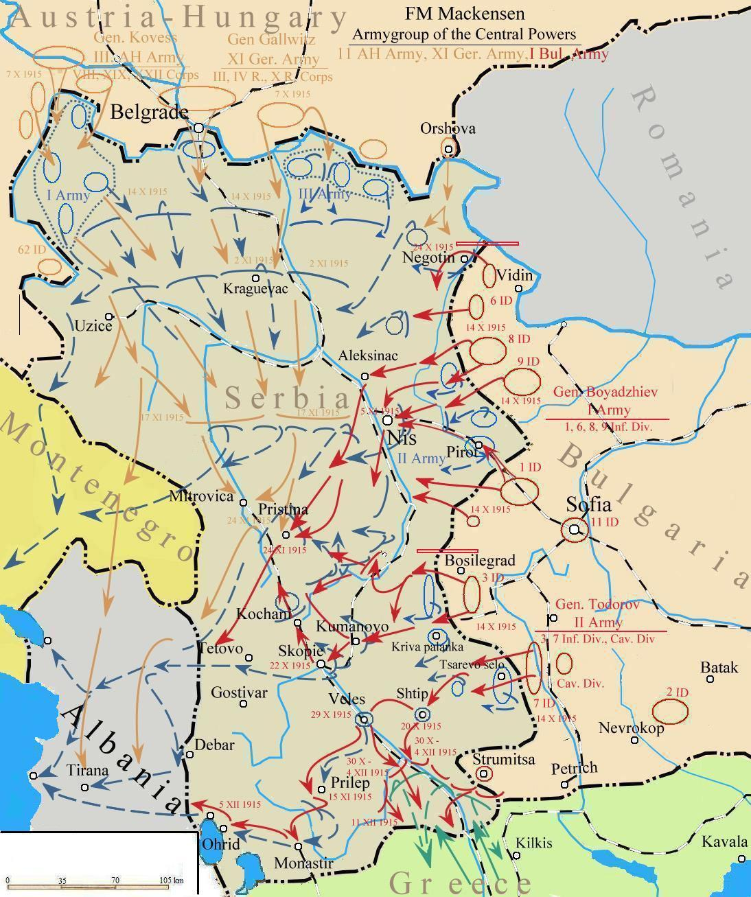 Post World War 1 Map Of Serbia