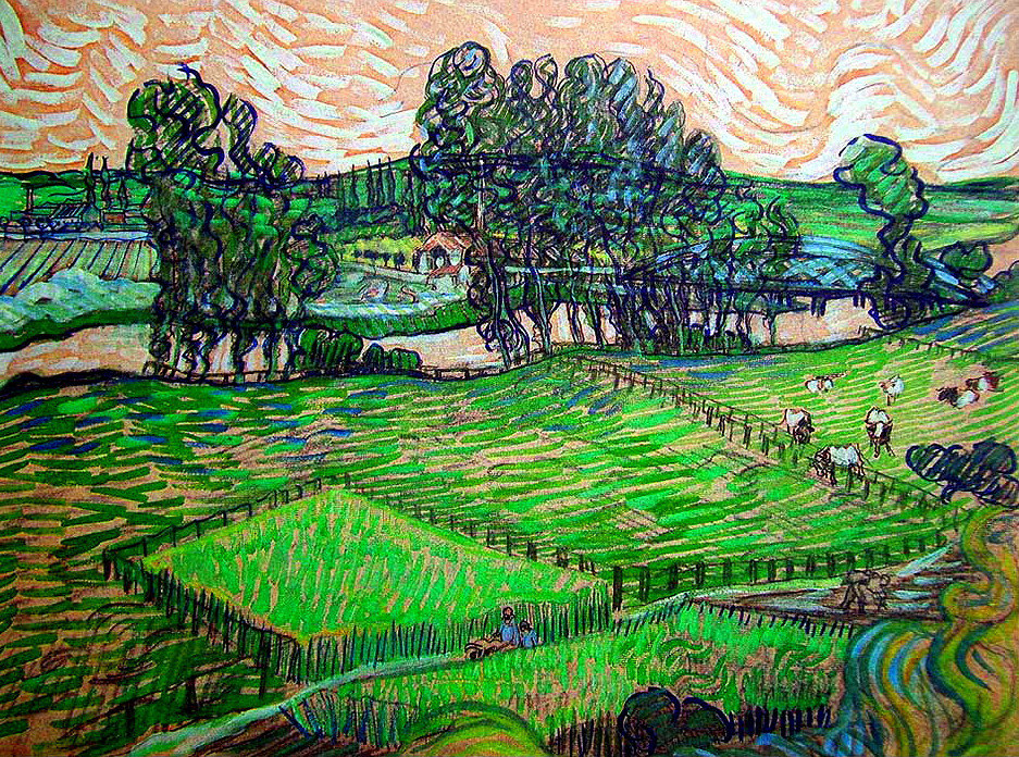 """dappledwithshadow: """" The Oise at Auvers, Vincent van Gogh 1888 """""""