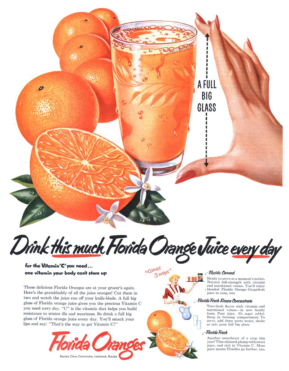 Florida Citrus Commission - published in The Saturday Evening Post - December 6, 1952
