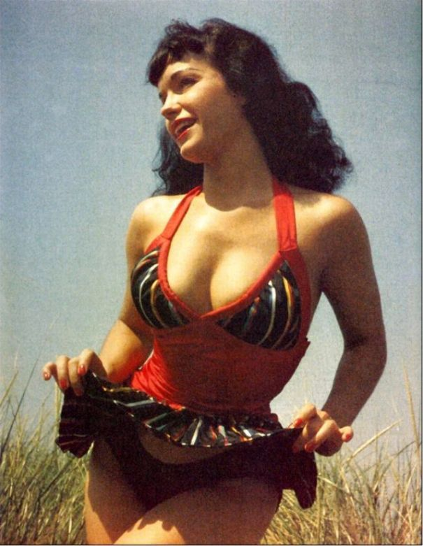 b48268c0ed The 'Queen of Pinups' – 32 stunning color photos of young Bettie Page in  the 1950s.