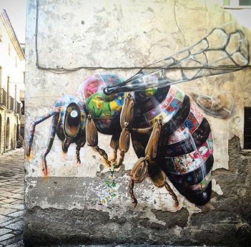 streetartnews:  Louis Masai streetartnews.tumblr.comwww.arteymuros.com#art #mural #graffiti #streetart