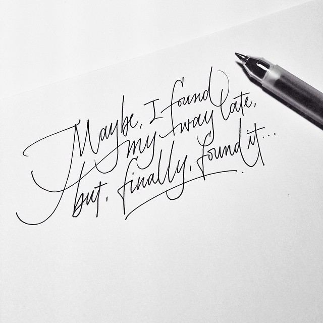 Image result for calligraphy handwriting a to z