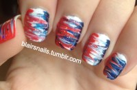 red white and blue nails on Tumblr