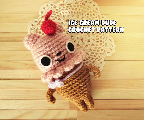 crochet pattern ice cream dude