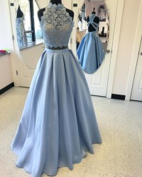 2 pieces prom dress | Tumblr