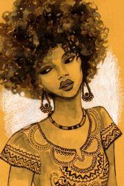 afro cartoon