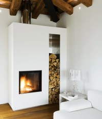 My ideal home  contemporary fireplace (via Dwell / ph