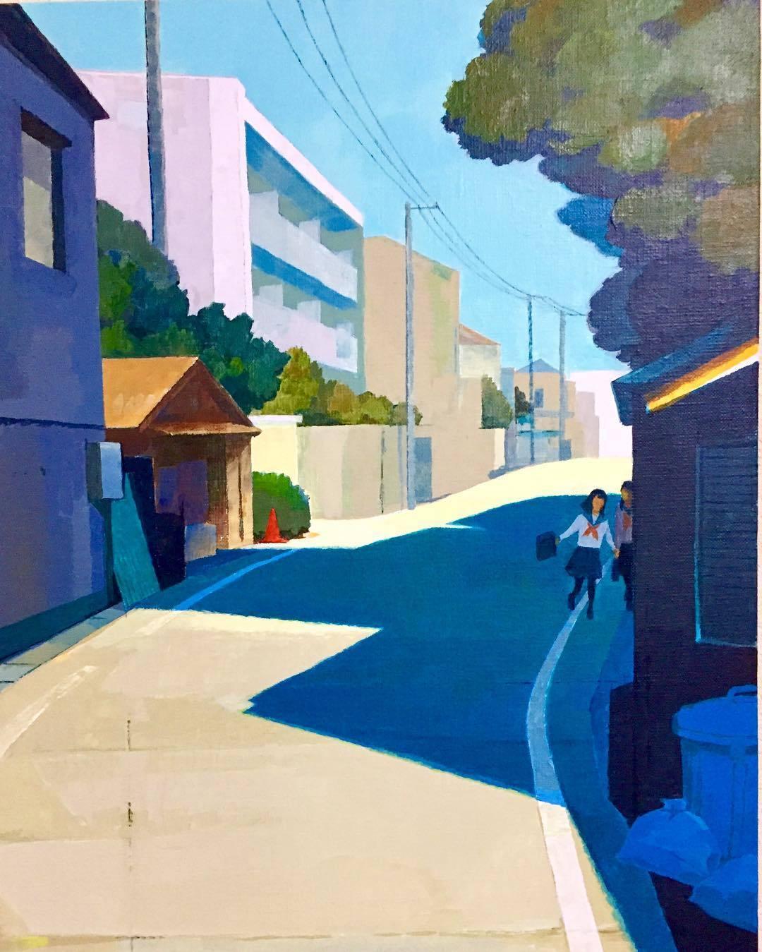 """urgetocreate: """"Makoto Funatsu, Keep Mum, 2017, acrylic on canvas """""""