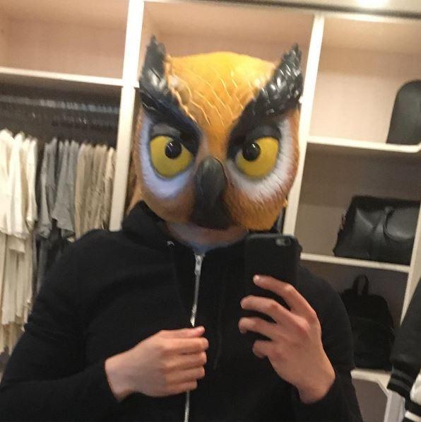 Evan in his Owl Mask. Posted on Instagram - Vanoss' Instagram