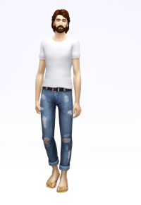 Cropped Roll-up Jeans M - The Sims 4 Download - SimsDomination