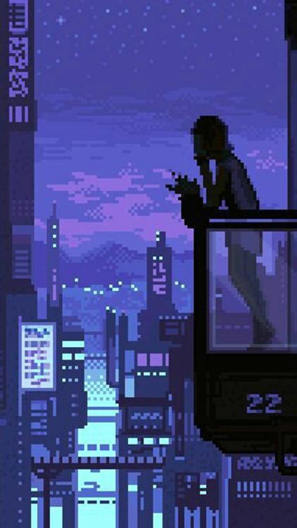 Hologram Girl From Blade Runner 2049 Live Wallpaper Pixelated Background Tumblr