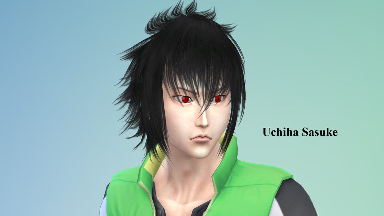 NG Sims 3 • Uchiha Sasuke - The Sims 4 Model Eye & Model by me...