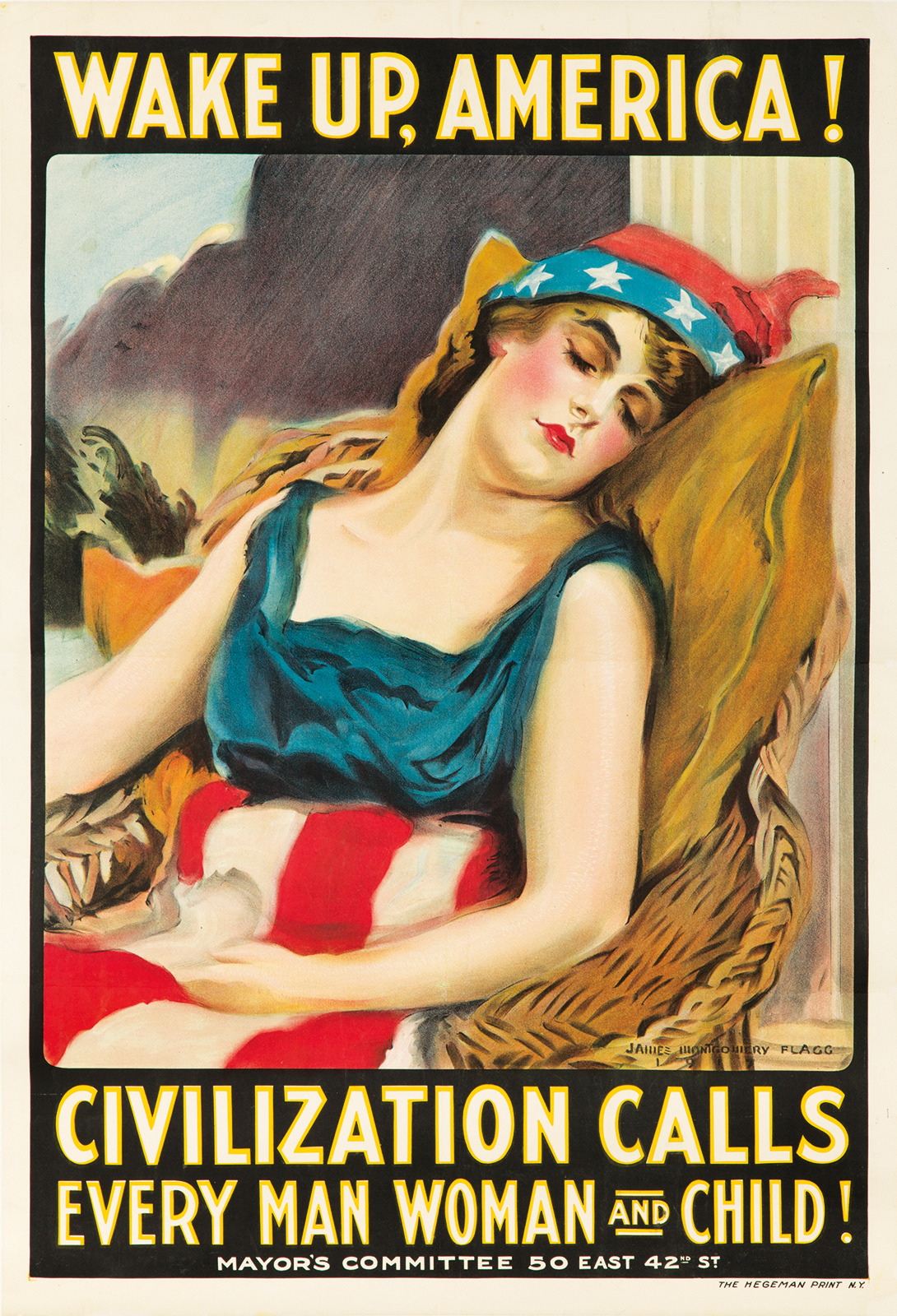 'Wake Up, America!' - James Montgomery Flagg - 1917
