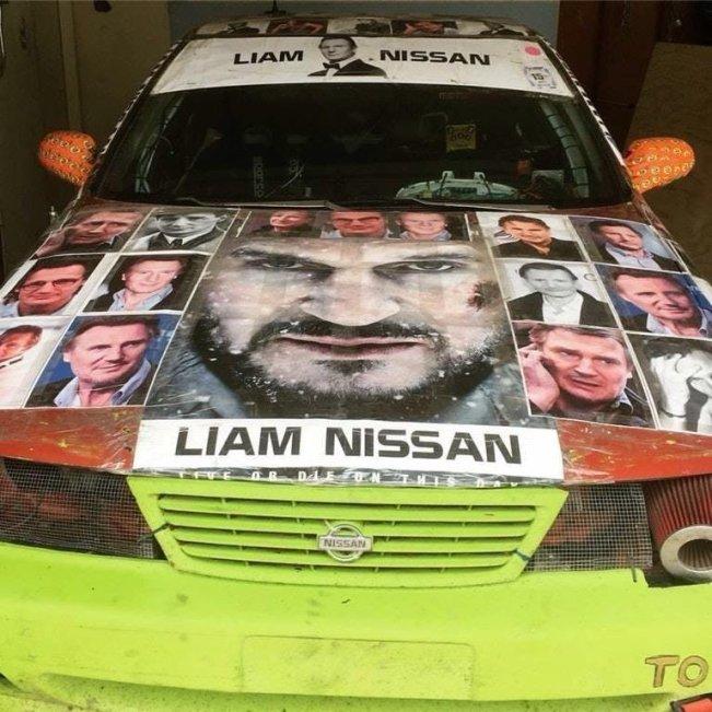Liam Neeson Nissan