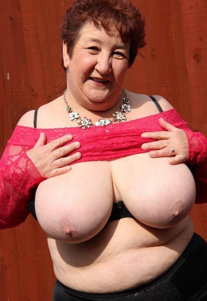 Heavy granny tits