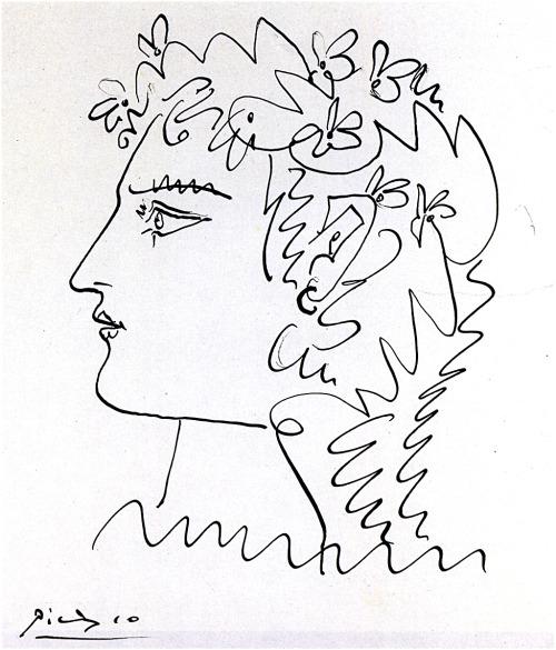 Pablo Picasso Woman in Profile 1952