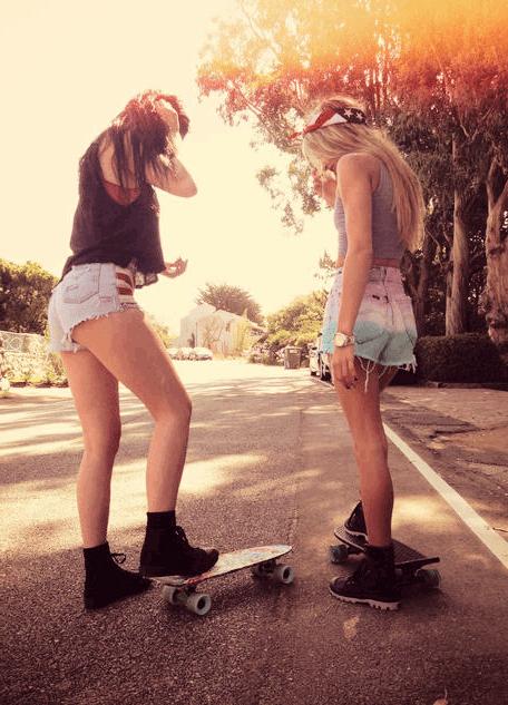 Boy Girl Cute Wallpapers Skate Girls On Tumblr