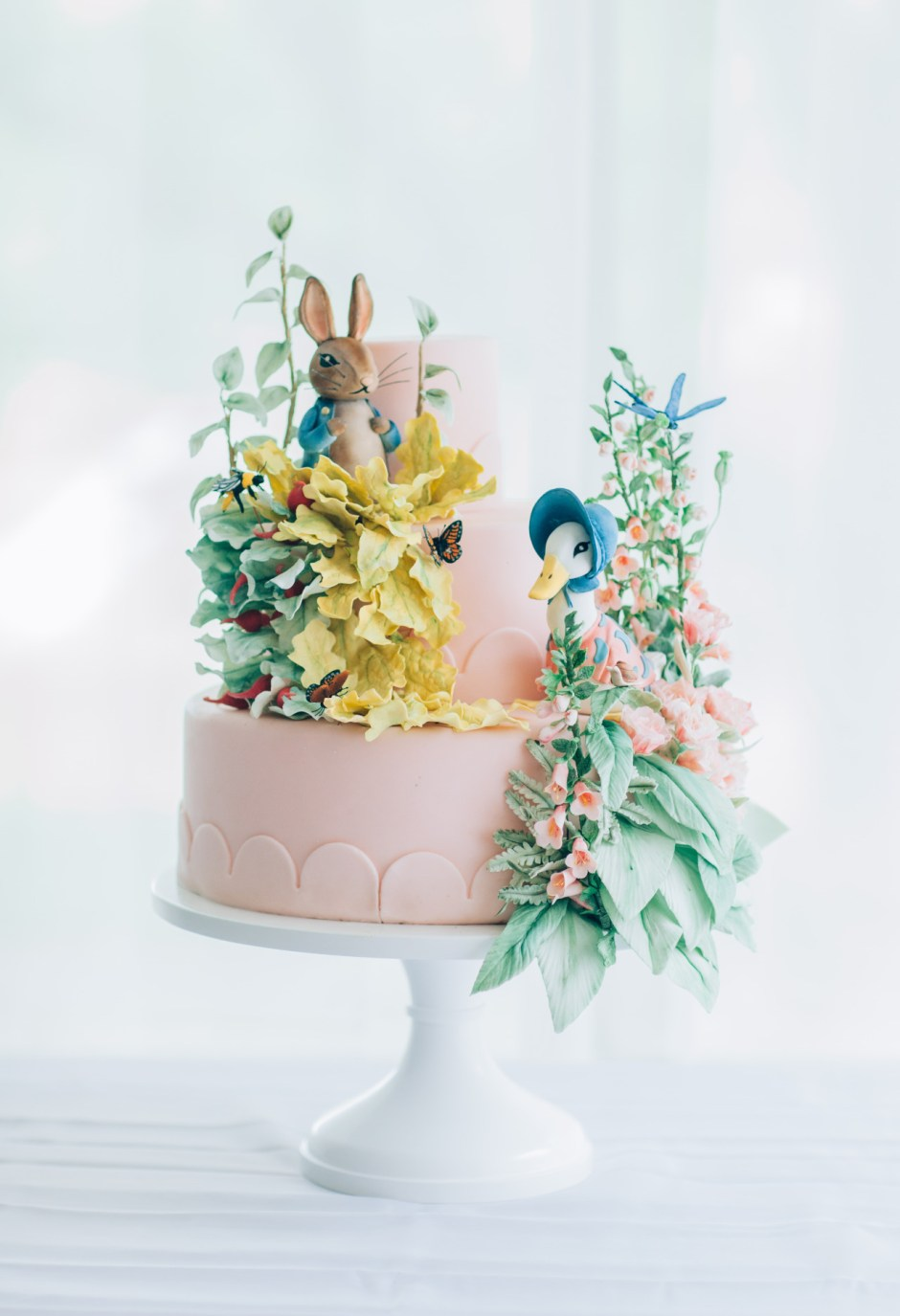 Mischief Maker Cakes I Beatrix Potter Cake I Peter Rabbit Cake I Jemima Puddleduck Cake   I First Birthday Cake I Beatrix Potter First Birthday  #beatrixpotter #beatrixpottercake #beatrixpotterparty