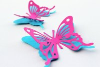 MyDreamDecors  3d Butterfly wall decor - Pink and Blue ...