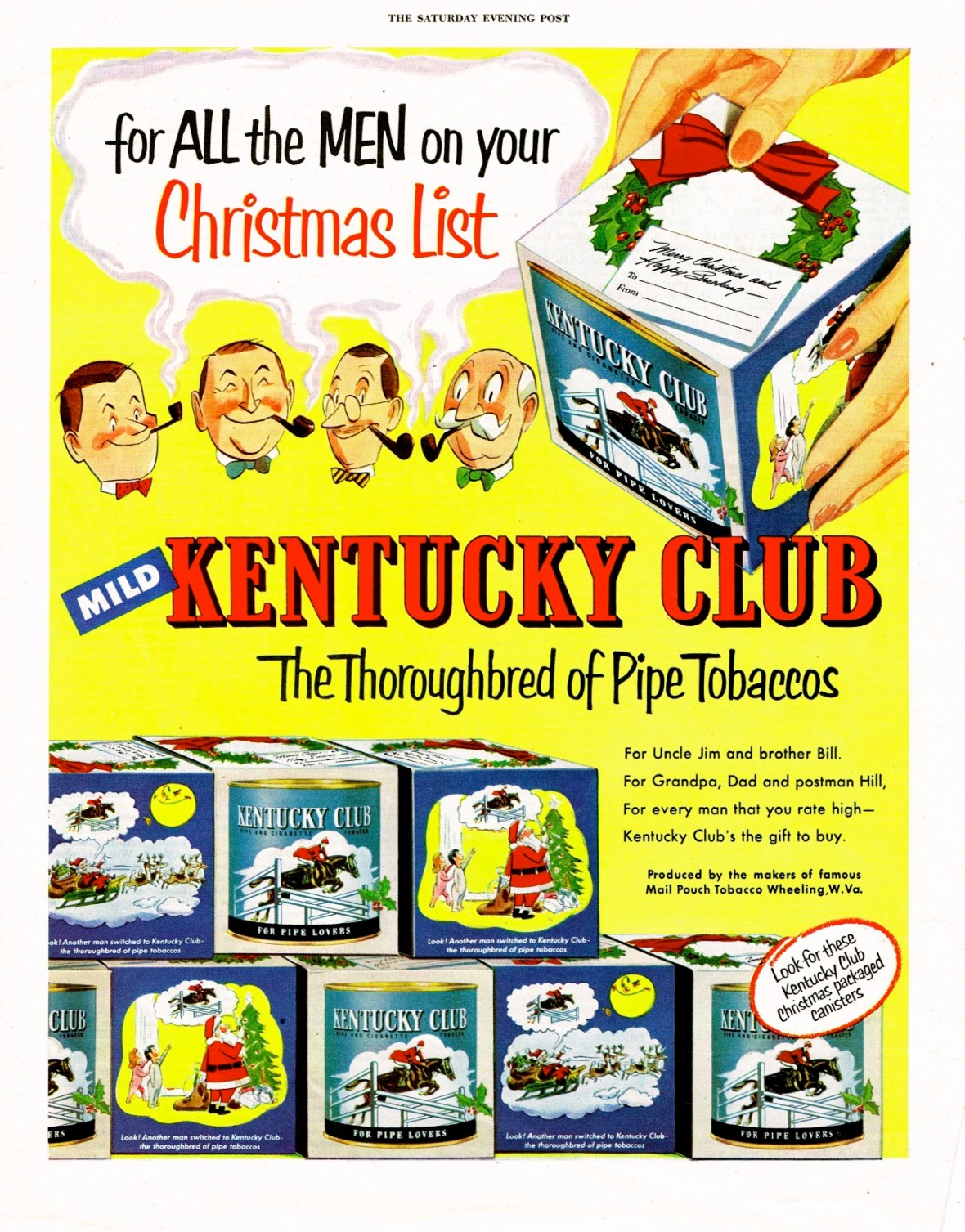 Kentucky Club - published in The Saturday Evening Post - 1953