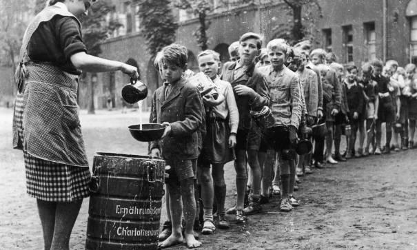 German Schoolboys Line Up For Gruel In 1945 Via Reddit History