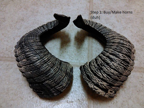 Tutorial for Attaching Cosplay Horns to Wigs