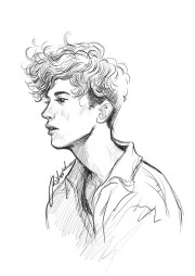 drawing of troye sivan
