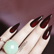 wine red nail polish