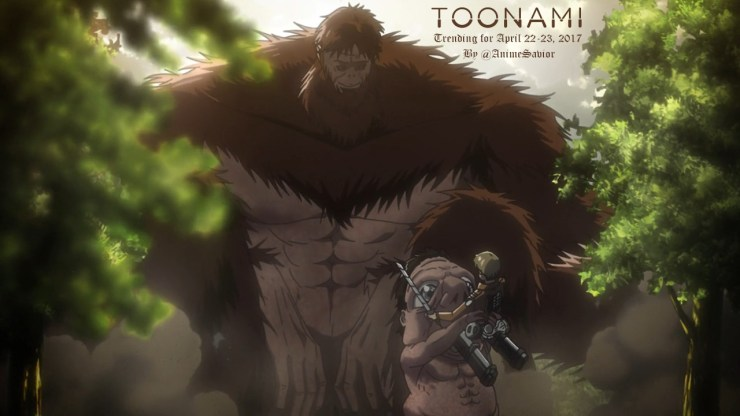 """""Like hell this is [the end]. We're not done, not yet. A person only loses when they give in. Remember that. As long as we keep putting up a fight, we haven't been beaten."" - Miche Zacharius, Attack on Titan (Ep. 26) "" The Toonami Trending Rundown..."