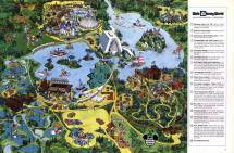Deep Water Studios 1975 Walt Disney World Map Classic
